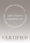 Safehotels Certification award logo